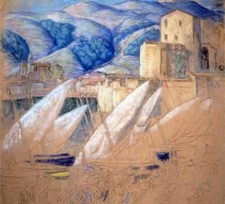 """Exposition """"Collioure  1915 - 1945 : La ville sublimée"""" Augustin Hanicotte"""