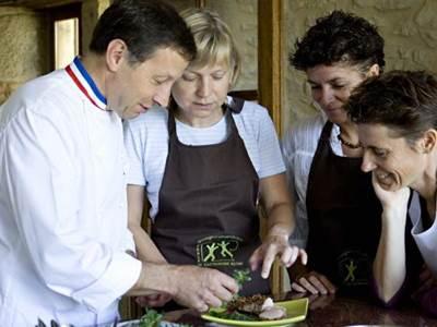 Cours de cuisine suivi du repas, Menu des Gourmets