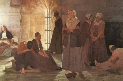 Prisonnières huguenotes à la tour de Constance ©