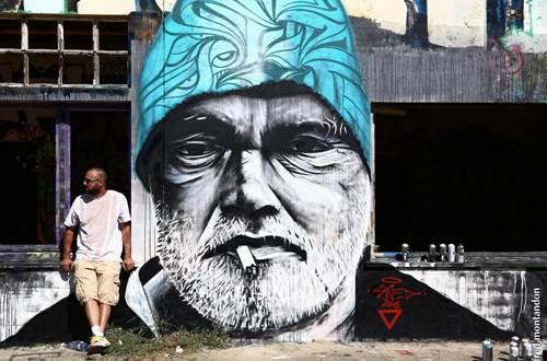 Raisonnable et humain - Galerie artiste peintre - fresque murale © R&H-Swed