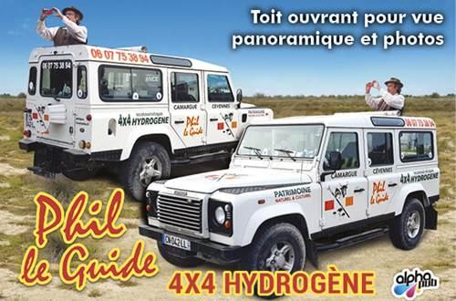 Mon véhicule 4X4 éco-touristique hydrogène au toit ouvrant et 8 hautes places pour vues panoramiques et photos hors des sentiers battus ©