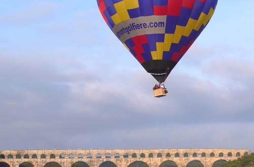 Les Montgolfières du Sud - vol au dessus du Pont du Gard © Les Montgolfières du Sud