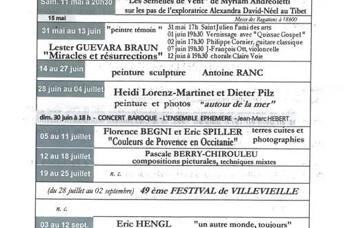 Expositions 2019 à la Chapelle St Julien à Salinelles ©