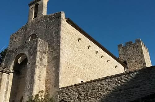porche de l'Église de Saint-Bonnet-du-Gard © sbdg.passion.patrimoine