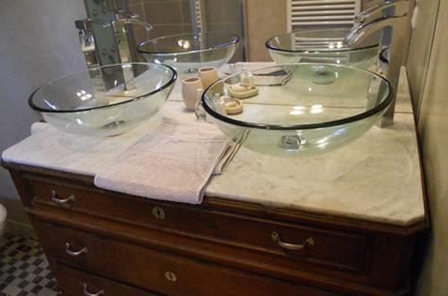 Salle de bain de la chambre Bougainvillée ©