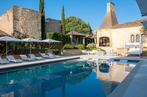 hotel restaurant le vieux castillon avec piscine ©