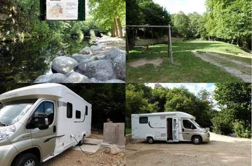 Aire pour camping car de Bréau et Salagosse ©
