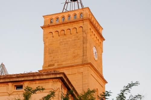 Tour de l'horloge de St-Quentin la Poterie - horloge © Crédit photos H Brahic
