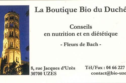 Boutique bio du duché Uzès ©