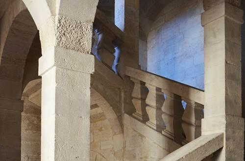 Visite des hôtels particuliers d'Uzès - Escalier à 4 noyaux de l'hôtel Chambon de la Tour © VAH - Ville d'Uzès