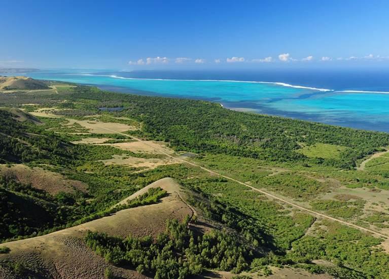 vue aérienne du Domaine de Déva