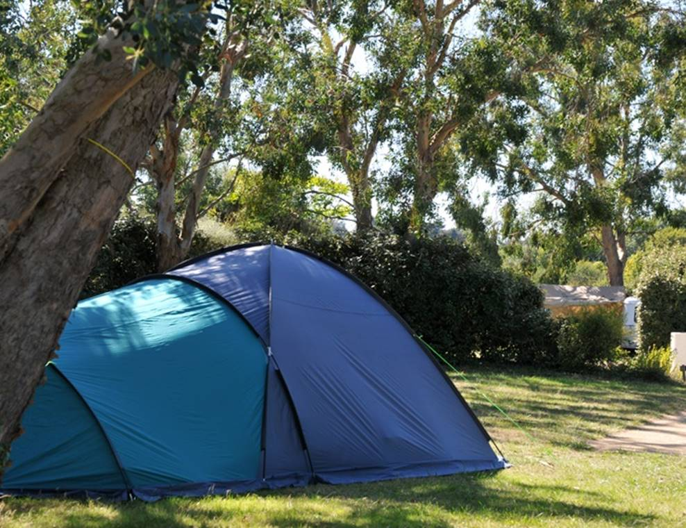 Emplacement nu pour tentes - caravanes et camping-cars - Camping Le Tindio