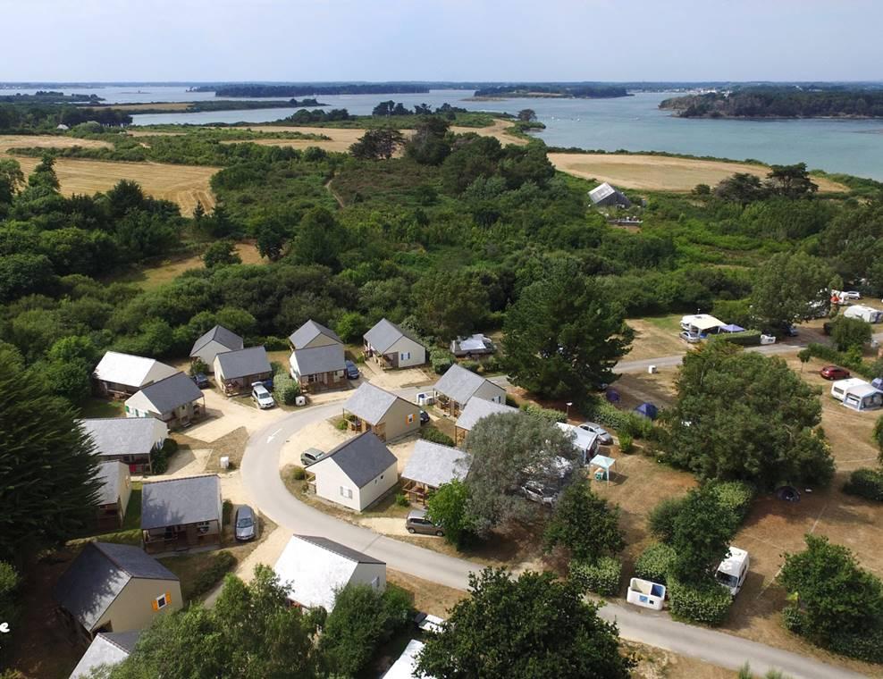Vue aérienne Camping Le Tindio - Arzon