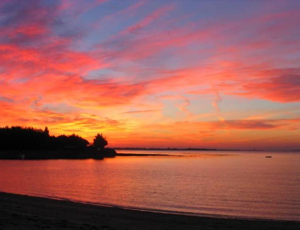 Coucher-de-Soleil-Maison-Marine-Marie-Le-Franc-Sarzeau-Presqu'île-de-Rhuys-Golfe-du-Morbihan-Bretagne-sud