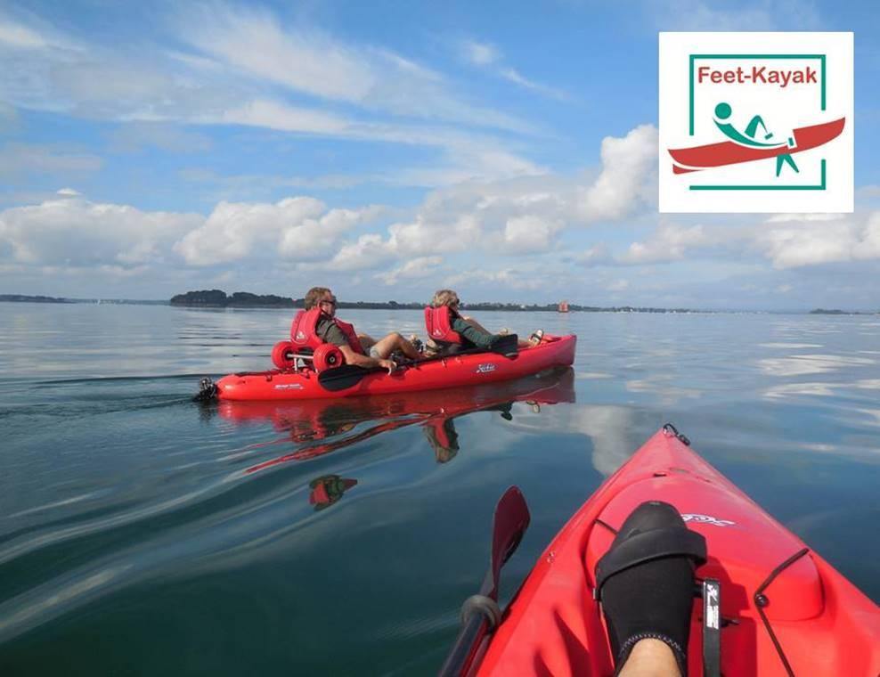 Feet-Kayak-Mer-Sarzeau-Golfe-du-Morbihan-Bretagne sud