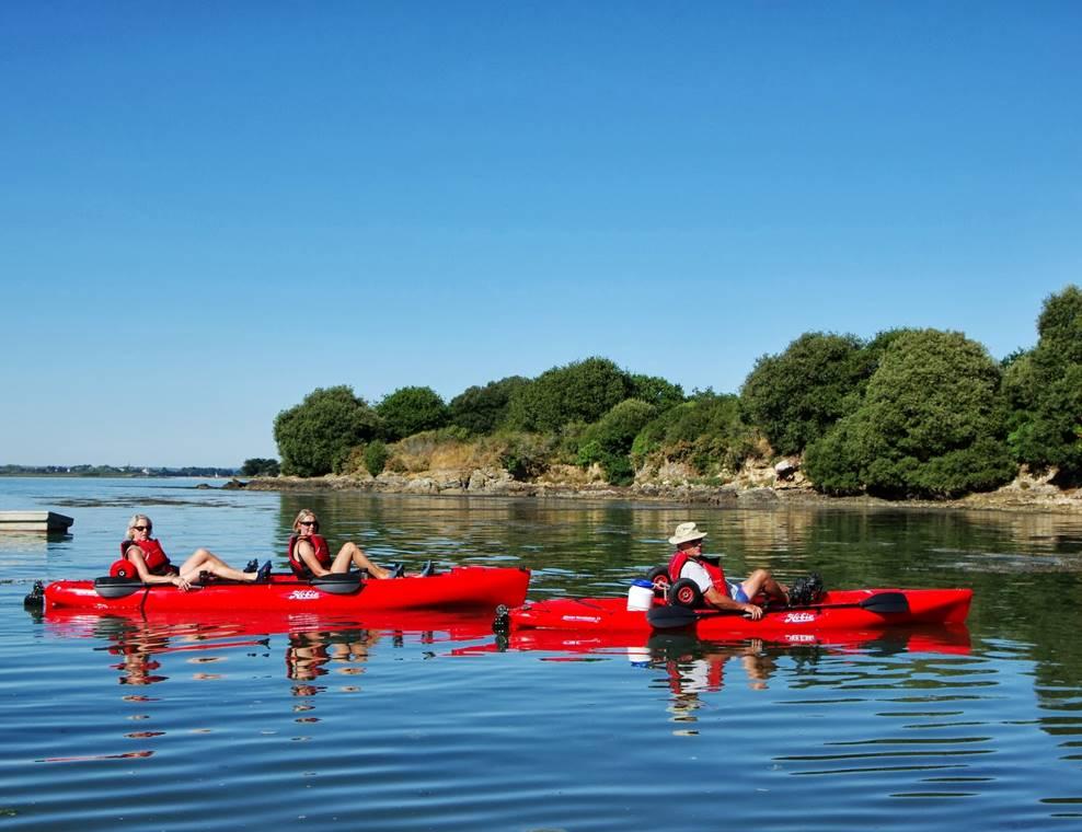 Feet-Kayak-Biplace-Confort-Sarzeau-Golfe-du-Morbihan-Bretagne sud