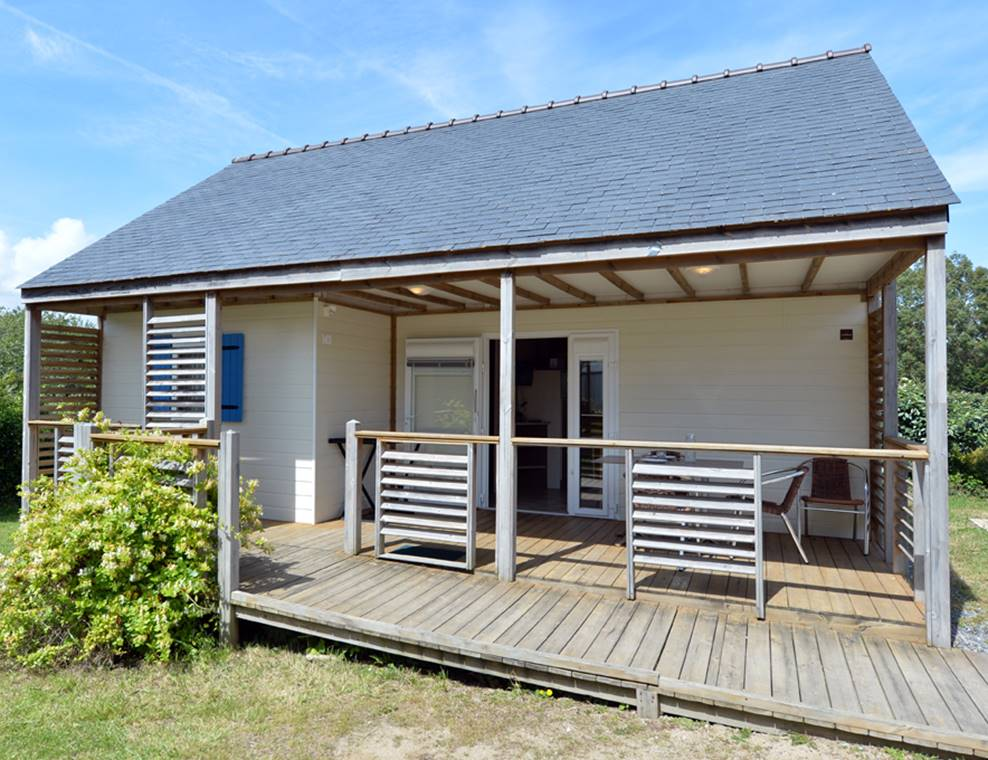 Chalet Origan accessible PMR Camping le Tindio
